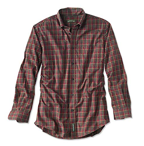 Orvis Men's Heritage Twill Shirt, Red, Large