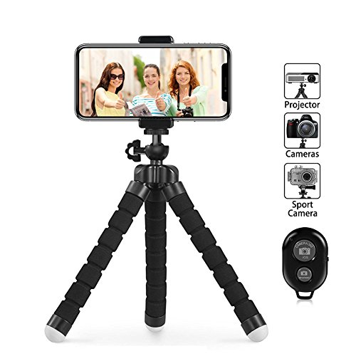 Wrap Shutter (Phone Tripod, PacGo Flexible and Portable Cell Phone Tripod with Remote Shutter and Universial Clip for iPhone, Android Phone, Camera and Sports Gopro)