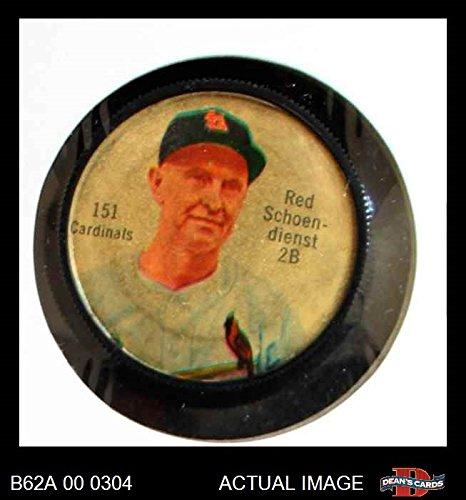 1962 Salada Coins # 151 Red Schoendienst St. Louis Cardinals (Baseball Card) Dean's Cards 2 - GOOD Cardinals