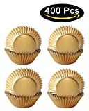 SophieBella 400-Count Muffin-Liners Paper-Baking-Cups Gold-Cupcake-Liners