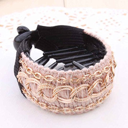 Xuanhemen Women Ladies Hair Clip Shining Rhinestone Round Po