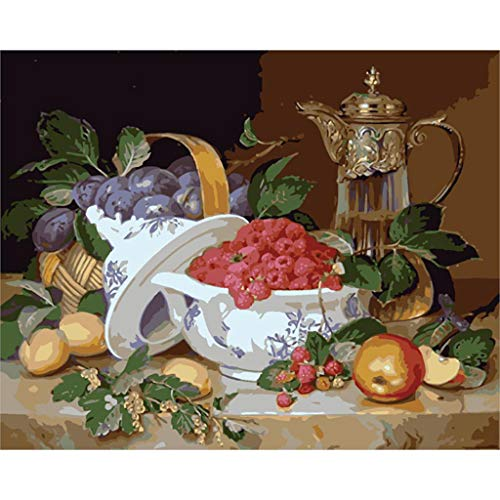 LovetheFamily 古典的な果物 数字油絵 数字キット塗り絵 手塗り DIY絵 デジタル油絵 40x50cm 手芸・画材 、手工芸 キット、 芸術、工芸、DIY 手作り、装飾品