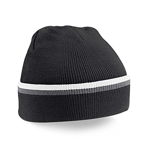 WHI GPH BLK Negro Teamwear Beechfield Talla B471 Única Unisex Gorro U6qntw