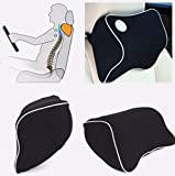 Car Seat Headrest Memory Foam Cotton Neck Support Rest Cushion Travel Pillow by STCorps7