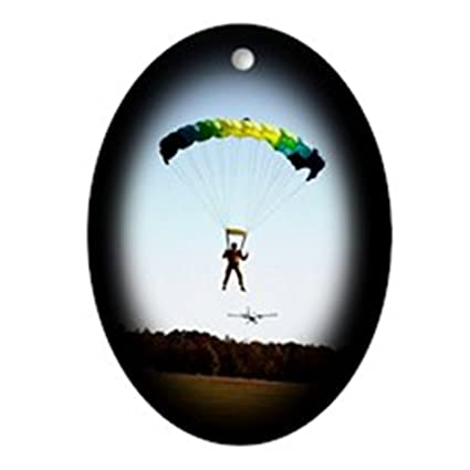CafePress - Skydiving Christmas Oval Ornament - Oval Holiday Christmas  Ornament - Amazon.com: CafePress - Skydiving Christmas Oval Ornament - Oval