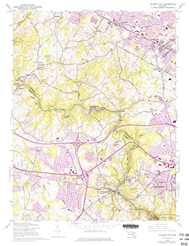 1976 Chateau - YellowMaps Ellicott City MD topo map, 1:24000 Scale, 7.5 X 7.5 Minute, Historical, 1953, Updated 1976, 26.9 x 20.6 in - Tyvek