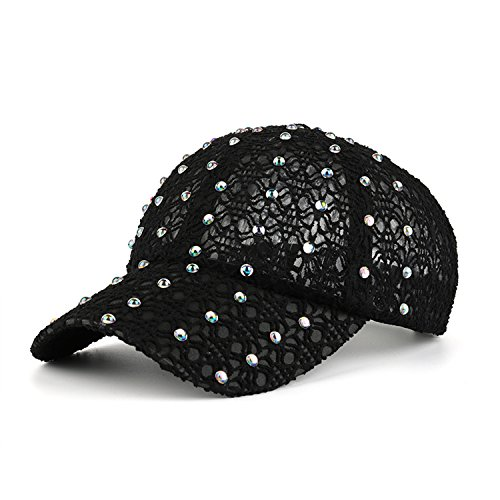 Rhinestone Black Baseball Hat - 3
