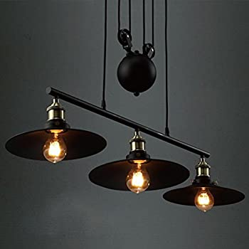 Amazon.com: Onepre Industrial Vintage 3 Lights Pulley