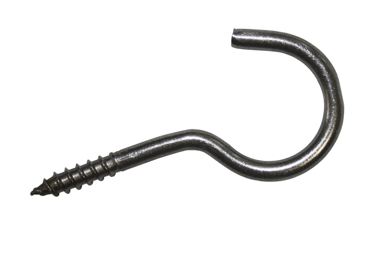 Dresselhaus Bent Screw Hooks Item R 11, 3.3 x 50 A2 Stainless Steel Pack of 20)
