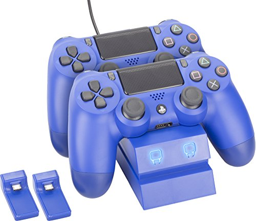 Venom PlayStation 4 Twin Charge Docking Station - Blue (PS4)