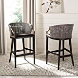 28 bar stools - Safavieh Home Collection Birch Wood Brando Brown 28-inch Bar Stool