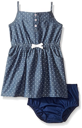 Carter's Baby Girls' Printed Chambray Dress, 24 Months