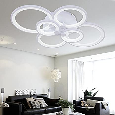 Chandelier Modern Acrylic Lighting Flush Mount LED Ceiling Light ...