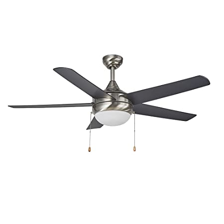 Design House 154344 Lexi 52 LED Ceiling Fan, Satin Nickel