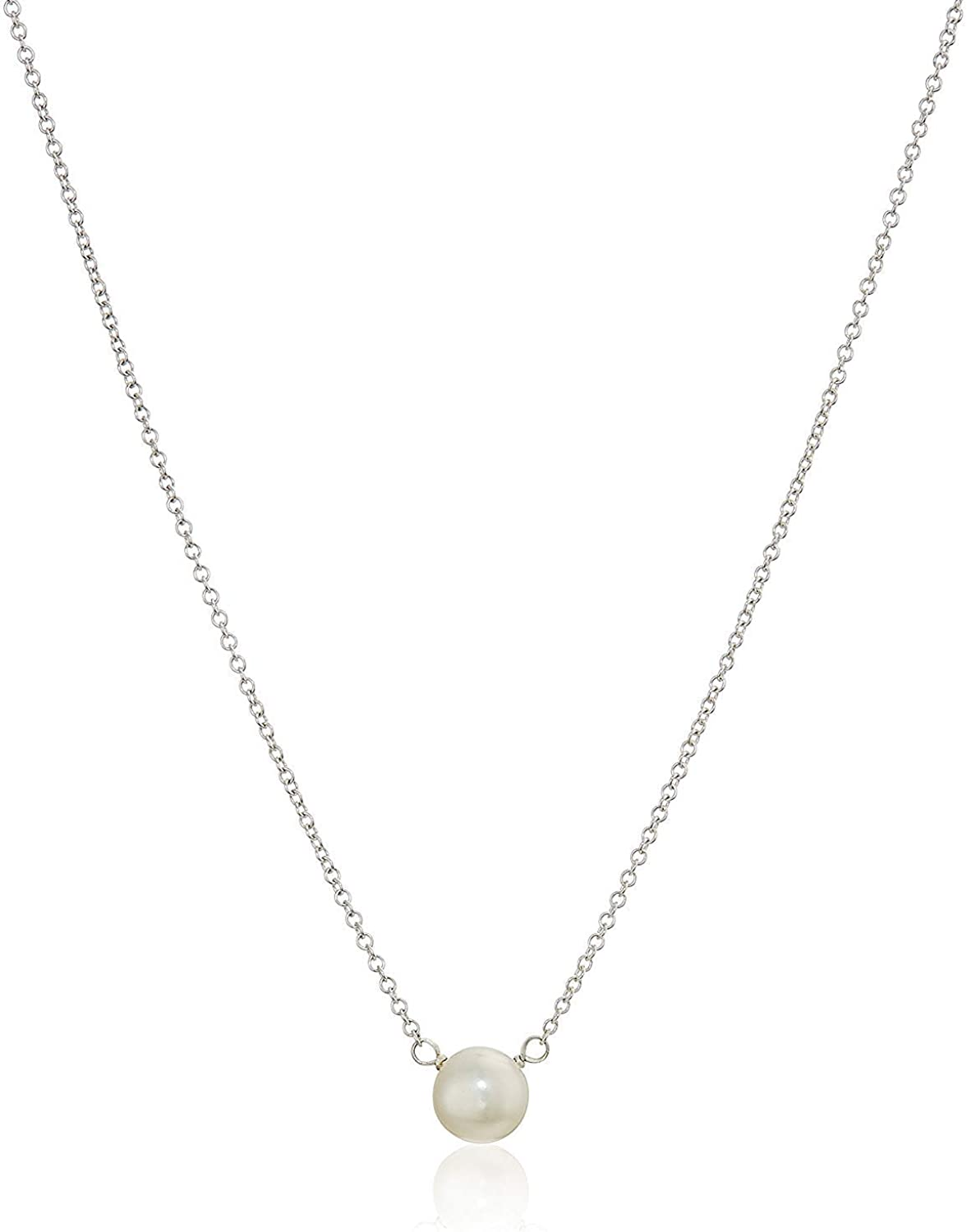 """Dogeared Pearls of Love Freshwater Cultured Sterling Silver 16"""" Boxed Necklace,5.5-6.0 mm"""