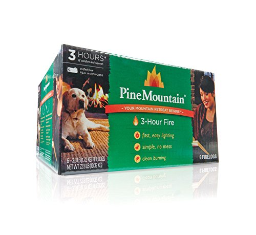 Pine Mountain 3-hour Firelogs, 6-pack Proprietary Time-release Technology