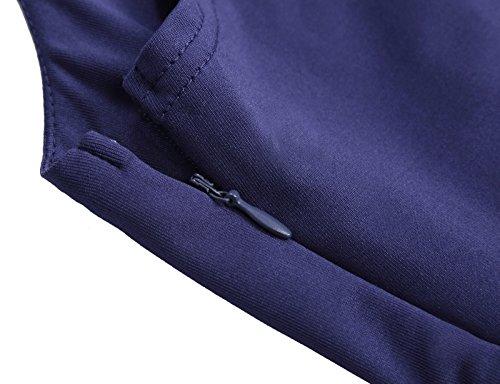Azul Vestido Vintage Sin Mangas Pinup Vestido de Lace Floral 291
