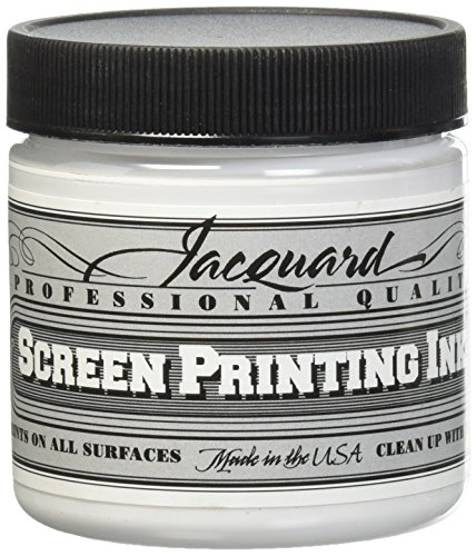 Opaque Screen Printing - Jacquard JAC-JSI1119 Screen Printing Ink, 4 oz, Super Opaque White