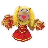 Melissa & Doug Cheerleader Puppet con barra de madera desmontable para gestos animados