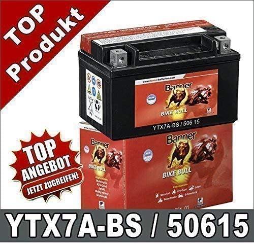 Motorrad Batterie 7ah Ytx7a Bs Agm Gel Gtx7a Bs Ftx7a Bs 50615 Banner Auto