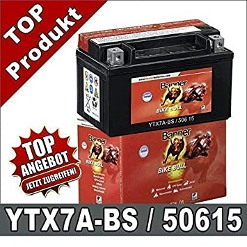 Batterie moto quad cbtx7a-bs ytx7a-bs gtx7a-bs 7a-bs
