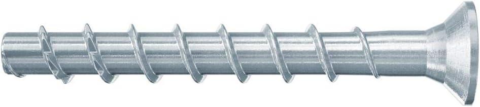 Fischer Ultracut FBS II 546384 6 x 60//5 SK, para fijaci/ón de rieles, perfiles de metal, tuber/ías de hormig/ón, 100 unidades color gris Tornillos de hormig/ón