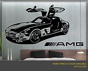 Mercedes-benz SLS AMG Sport Car Wall Decal / 36  X 22  & Mercedes-benz SLS AMG Sport Car Wall Decal / 36