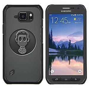 EJOOY---Cubierta de la caja de protección para la piel dura ** Samsung Galaxy S6Active Active G890A ** --Minimalista Gasmask