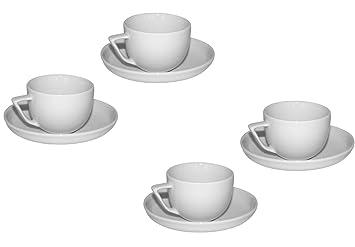 0b4b06b7a3 Rosenthal Espresso Tassen Bianchi 60ml Set Porzellan Untertassen Geschirr  weiss (4er Set)