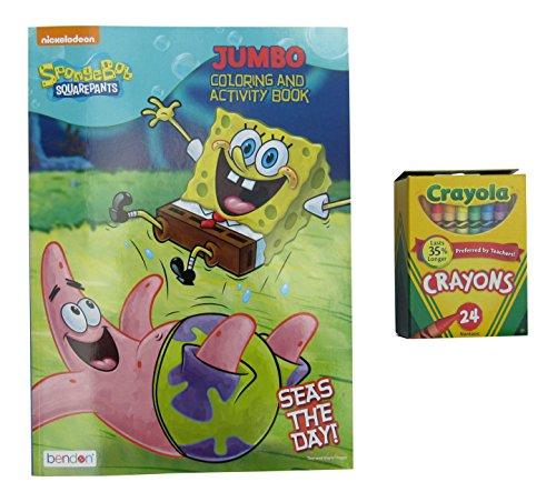 Nickelodeon SpongeBob Seas the Day Jumbo Coloring and Activity Book with 24 Crayons