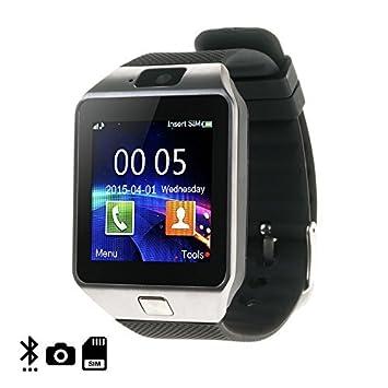 DAM - Smartwatch Ártemis Bt Silver. Cámara de fotos y vídeo integrada. Admite tarjeta SIM y Micro SD de hasta 32GB. mensajería, registro de llamadas, ...