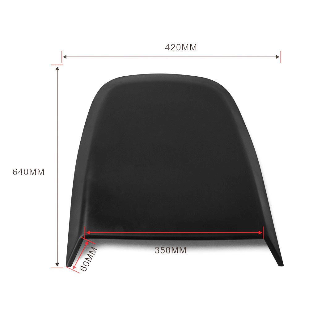 Universal Fitment Fit ABS Air Flow Hood Vent Scoop Bonnet Cover V4 Style length 27'' width 16.5'' height 2'' by IKON MOTORSPORTS by IKON MOTORSPORTS (Image #4)