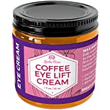 Coffee Eye Lift Cream by Leven Rose 100% Natural, Reduces Puffiness, Brightens Tired