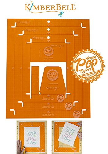 Orange Pop Rulers Rectangle Set by KimberBell KDTL102 by Kimberbell