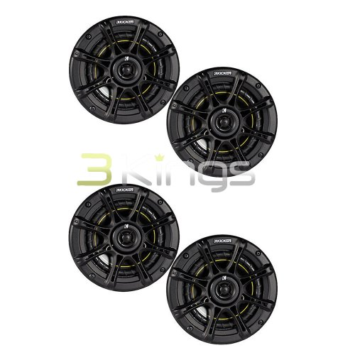 Kicker 4) Ds65 6.5' 200 Watt 4-OHM 2-Way Ds Series Car Audio Speakers...
