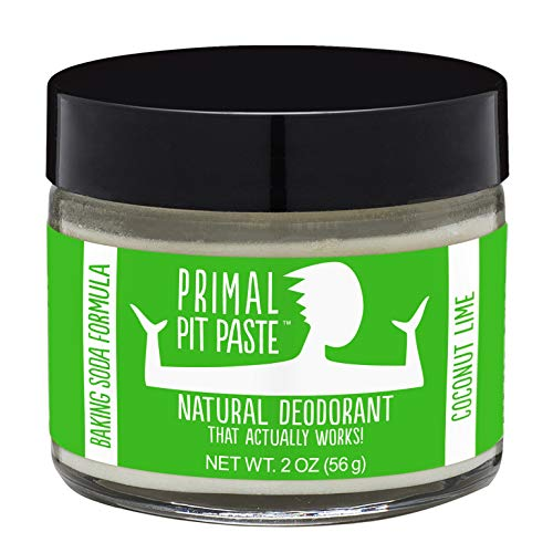 Primal Pit Paste - All-Natural Deodorant Jar, Coconut Lime, Baking Soda Formula, Aluminum & Paraben Free, Organic Arrowroot Powder, All Natural Deodorant for Women & Men, 2 oz