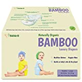 Bamboo Diapers Eco-Friendly Disposable Natural Hypoallergenic Soft w/Wetness Indicator Wicks Away Moisture to Keep Your Infant Toddler Dry & Happy Size 4-5 96ct for Sensitive Skin 22-33lb Value/Pack