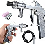 Air Sandblaster Gun Kit Sets Sand Blaster Grit Blasting 3 Ceramic Steel Nozzles 1 Suction Pipe Spray Gun
