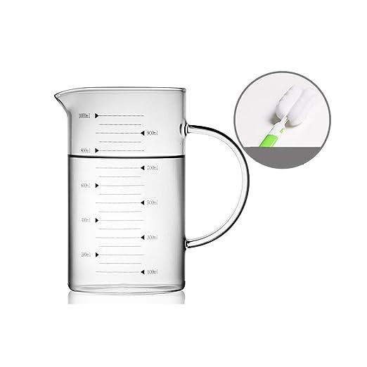 Compra GUYUEXUAN Taza de medición Vaso de medición de Vidrio ...