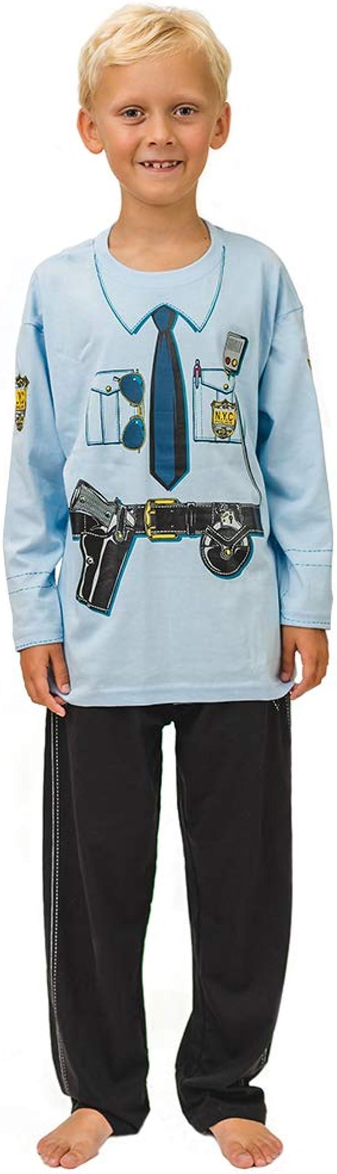 Pijama de Policía de New York y Ropa Casera Divertida: Amazon ...