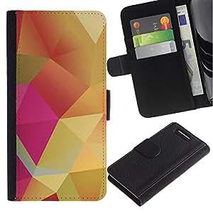Paccase / Billetera de Cuero Caso del tirón Titular de la tarjeta Carcasa Funda para - Pastel Pink Yellow Gold - Sony Xperia Z1 Compact D5503