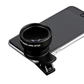 YANRR 0.45 X Ancho ángulo Lente móvil Universal Abrazadera Universal Externo Dos en cámara 37 móvil