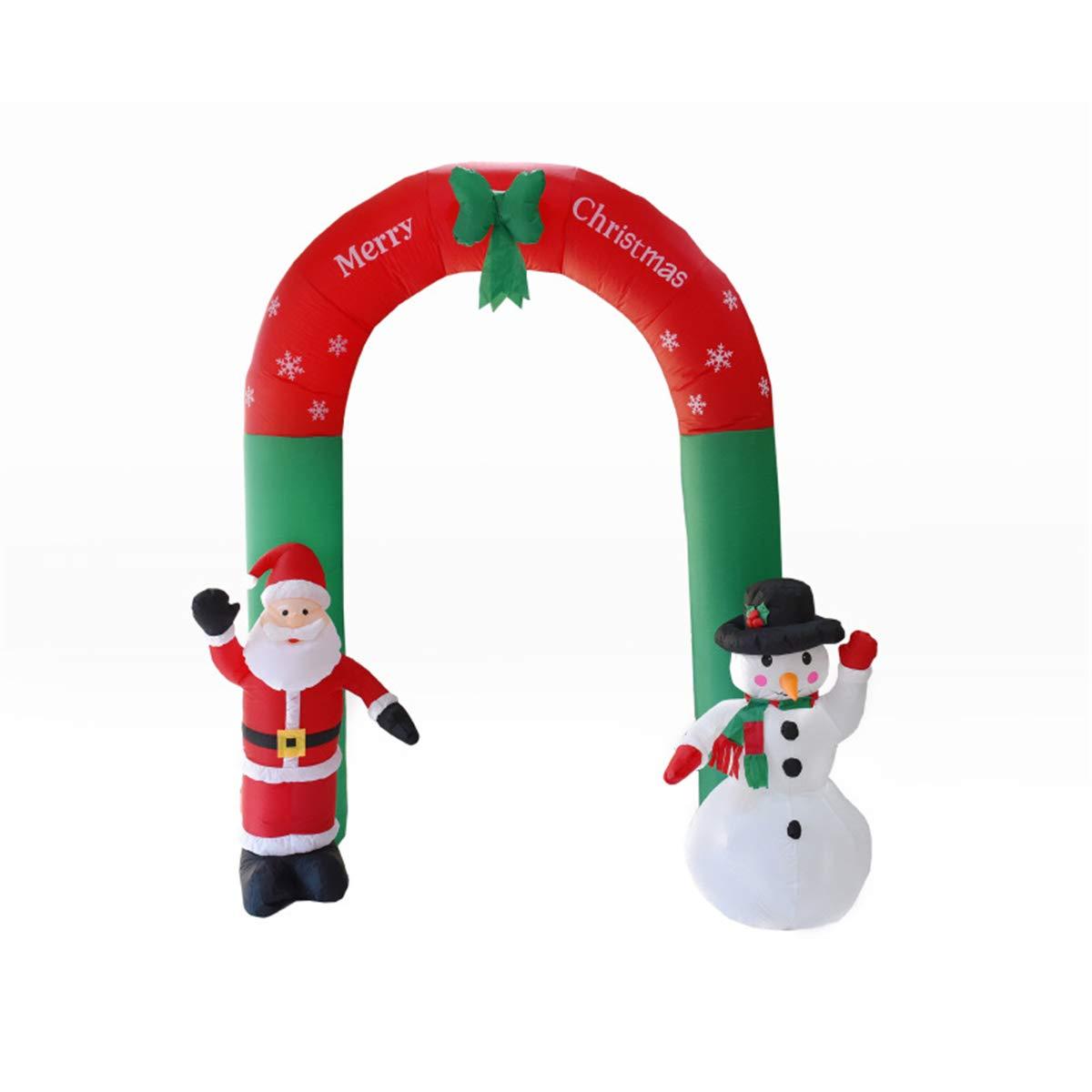 DUOLUO 2.4メートルインフレータブルクリスマスアーチサンタスノーマン屋内屋外の装飾装飾   B07NPHXGCL