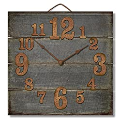 Highland Graphics Rustic Weathered Grey Wooden Wall Clock