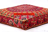 (US) Indian Daybed Big Seating Peacock Mandala Floor Pillow Cover Pouf Cushion Case Bohemian Ottoman Meditation Throw Large 3535