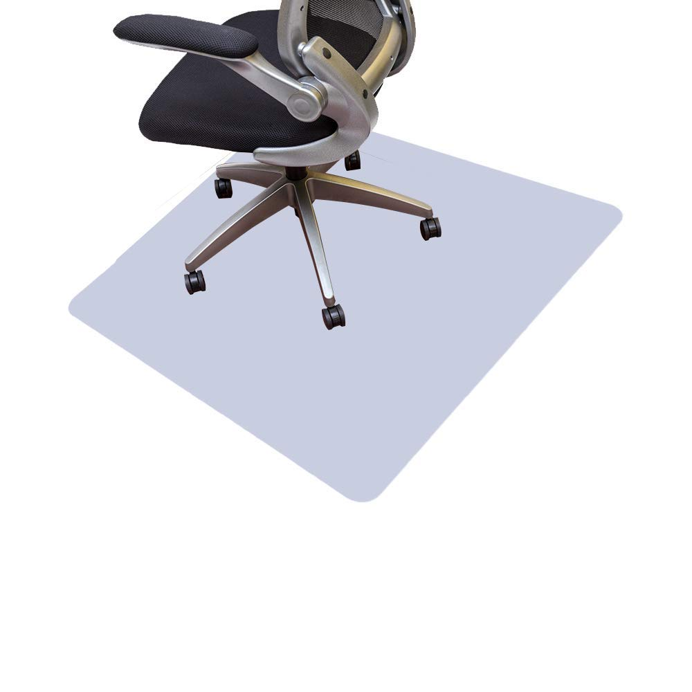 Resilia Office Desk Chair Mat – PVC Mat for Hard Floor Protection, Clear, 44 Inches x 44 Inches, Made in The USA