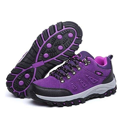 Adulto TAOFFEN Casual Sportive Hiking Scarpe Purple Women Stivali Unisex tqrnfwqO