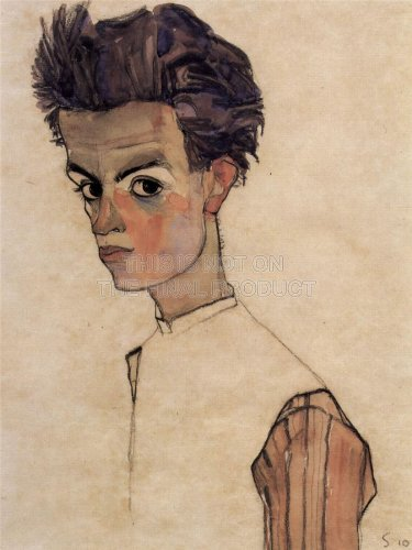 Self Portrait 3 (1910) (Painting) painted by Egon Schiele