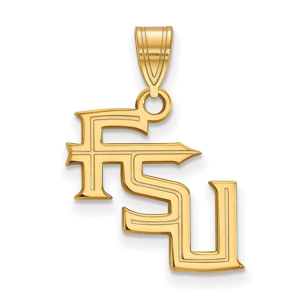 Lex /& Lu LogoArt 14k Yellow Gold Florida State University Medium Pendant LAL137400