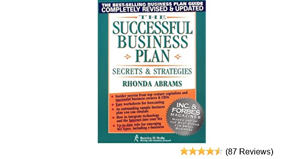Amazon The Successful Business Plan Secrets And Strategies
